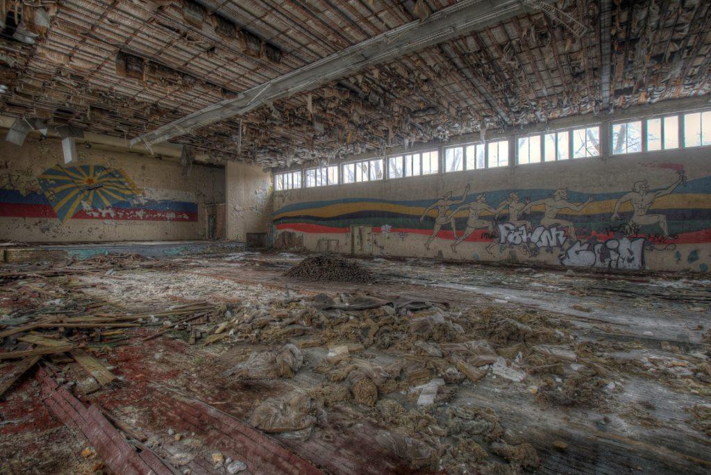 CCCP Sport een verlaten urbex sportzaal ergens in Duitsland